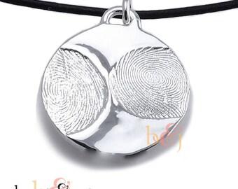 Sterling Silver Custom Family Fingerprints Pendant