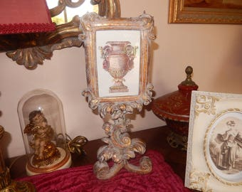 rococo baroque gold patina photo frame white original