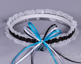 Carolina Panthers Lace Wedding Garter - Ready to Ship