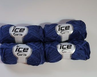 Ice Summer Ribbon Yarn - 50g balls x4 - With Lables