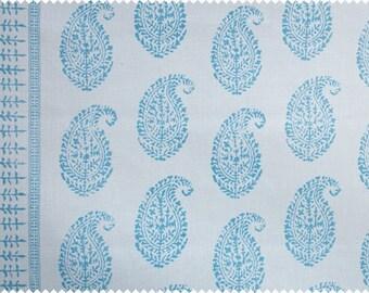"""Peter Dunham Textiles """"Kashmir Paisley"""" Hand Printed Linen Drapery Panels"""
