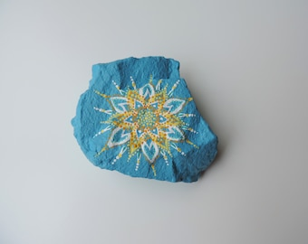 Painted Rock, Paperweight, Table Accent, Rock Art, Acrylic Painting, Original Artwork, Nature Art, Small Decor