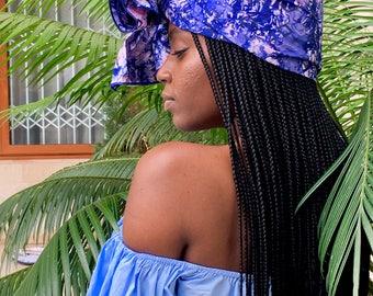 Galaxy // Adire Head Wrap // African Print