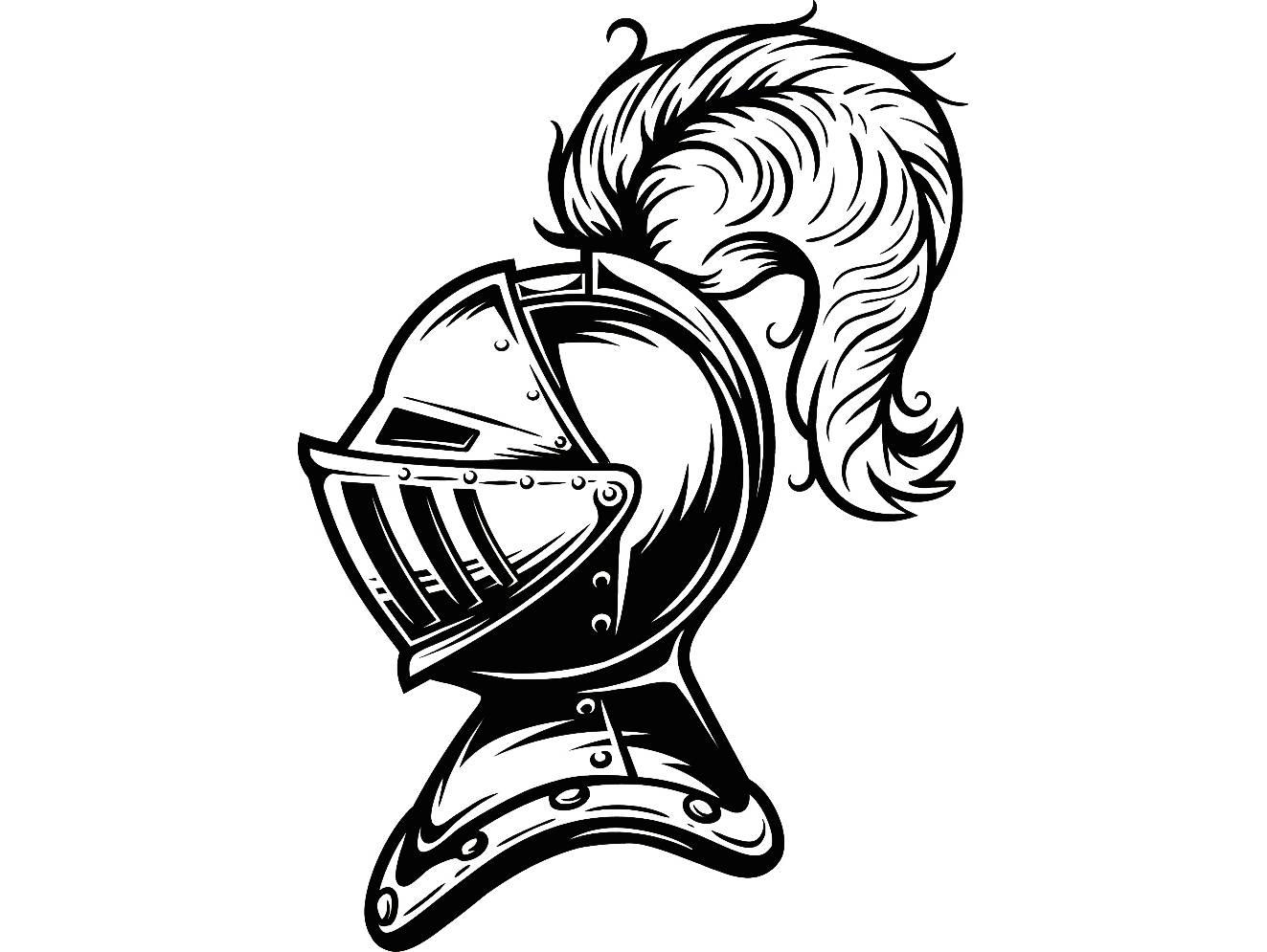 Knight 8 Metal Armor Helmet Feather Sword Monarch Military