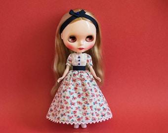 Blythe Doll Outfit - Picnic Floral Dress Set