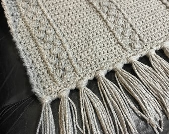 Gray Afghan, Crocheted