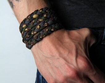 Men Gifts, Braided Bracelet, Wrap Bracelet, Mens Bracelet, Boyfriend, Boyfriend Gift, Mens Gift
