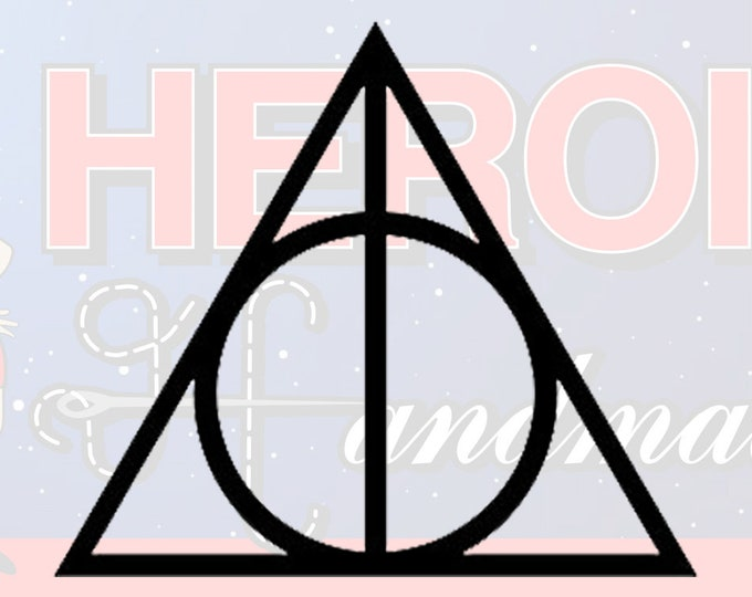 """4""""+ Harry Potter Deathly Hallows Adhesive Vinyl Decal"""