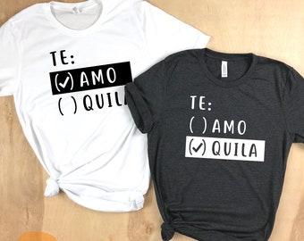 Te Amo Tequila, Cinco de Mayo, Bachelorette shirts, Bachelorette Party shirts, Vegas shirts, Vegas Bachelorette, Couples shirt, bridesmaids
