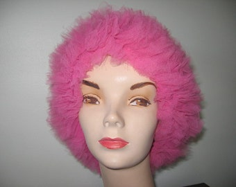 NEW LISTING / 1960's Flamingo Pink Bouffant Cap!