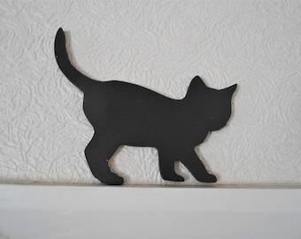 Unique MDF Kitten Silhouette for Door Frames, Shelves, Skirting boards.