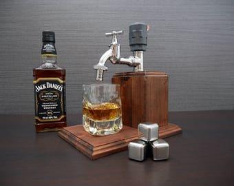 21st birthday, Brother Gift, Jack Daniels, Gift for Men, Mens Gift, Anniversary Gifts, Alcohol Dispenser, Medium Chrome