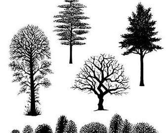 Tree Scene - Lavinia stamp