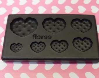 1x Floree Mold Small Heart Shaped Cookie Cake Deco