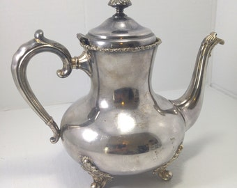 SIMPSON HALL MILLER Sterling Teapot, Ornate Handle, Lid and Knob 1800s