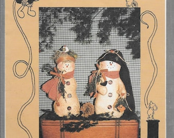FLAKEY & Mrs. NEST HEAD Soft Sculpture Dolls from TattleTails