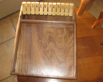 12# Shut the box game  Available in black walnut  , poplar or hickory.