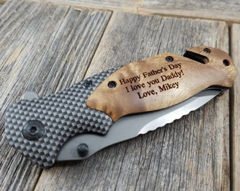 Trendy Father's Day gift, Pocket Knife, Engraved Knife, Custom Pocket Knife, Engraved Pocket Knife,