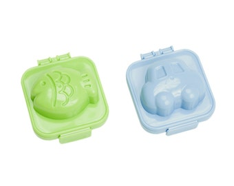 Fish And Car Egg Moulds / Molds / Shapers