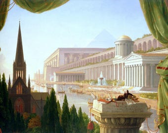 Architects Dream Painting by Thomas Cole Art Reproduction