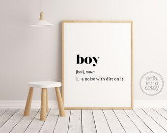Boy Definition // Kids Room Art // Nursery Printable Art // Baby Boy // Definition Art
