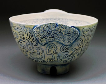 Kentucky Memory - handmade ceramic bowl, small ceramic bowl, pottery bowl, small serving bowl, home decor, wedding gift, sgraffito, gift