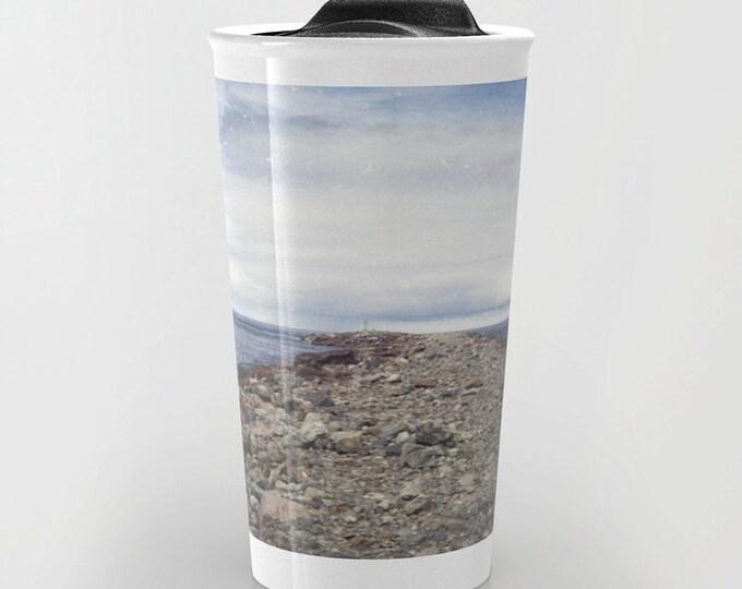 Beach Travel Mug - Rockaway Beach Oregon Photo  - Coffee Travel Mug - Hot or Cold Travel Mug - 12oz Travel Mug -Made to Order