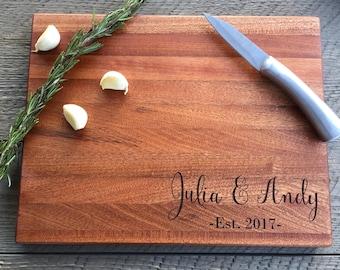 Custom Cutting Board, Wedding Gift, Personalized cutting board, Engraved Cutting Board, Christmas Gift, Walnut cutting board