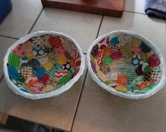 Pretty  paper Machete bowls.