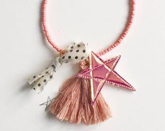 Star & Tassel Children Necklace