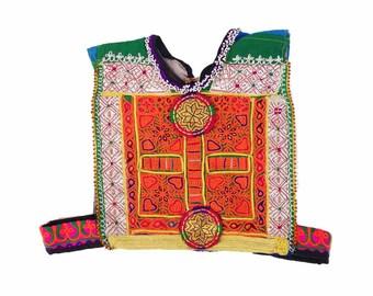 Vintage Kutchi Patch / Afghan Dress Fabric for Embellish / ku-vest-patch-39