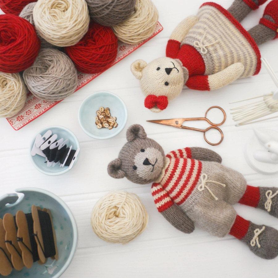 6 teddy bear variations girl bears boy bears toy knitting zoom bankloansurffo Choice Image
