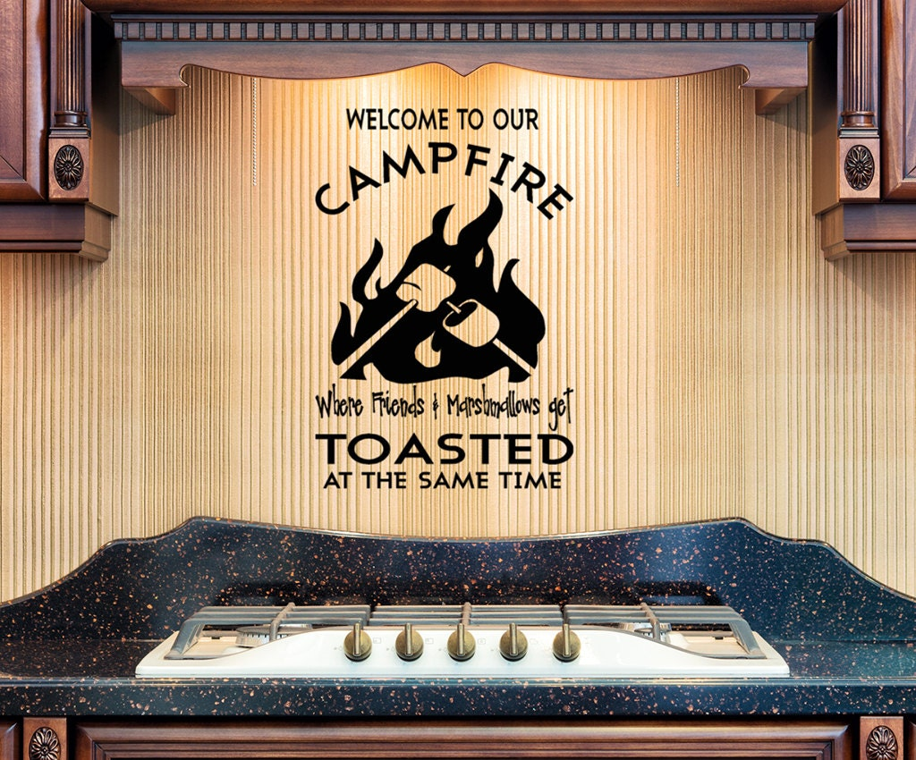 Campfire Vinyl Wall Decal Welcome To Our Campfire Friends And