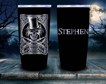 AFFLICTION with Skull  20 ounce Tumbler in Black