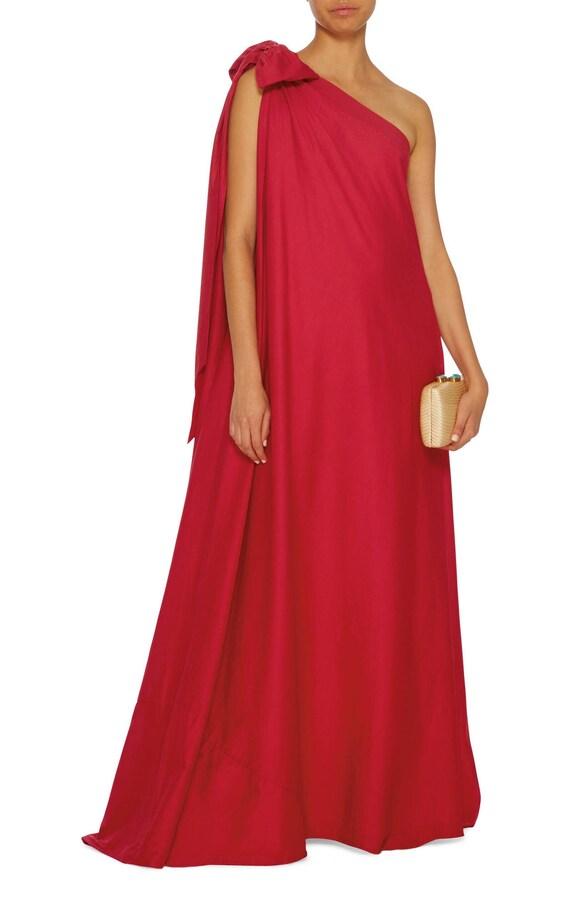 shoulder maxi Boho Cocktail dress Long Valentines Plus dress Oversized dress dress size One dress Red Loose dress red dress dress 4wdq7gwv