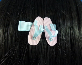 SALE - NEW - Pretty Beach Summer Sandles Sandals Hair Clip... Hair Accessory..Hair Bow