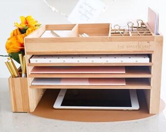 Desk Caddy, Desk Organizer, Desk Decor, Pen Holder, Office Supplies, Desktop Storage, Docking Station