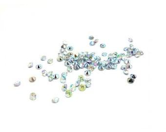 520 iridescent rhinestones 4mm