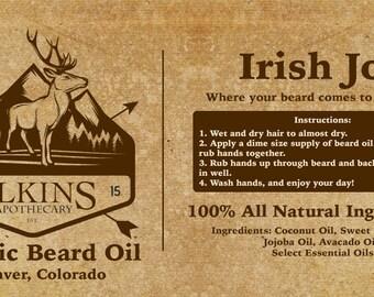 Organic Beard Oil - Irish Joe (Sandalwood)