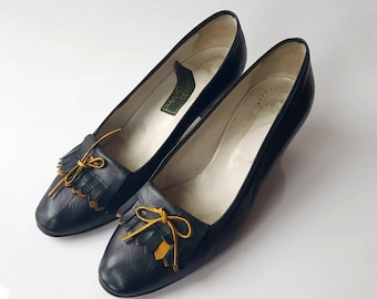 Vintage Shoes, Leonardo da Vinci Shoes, Made in Italy, Size 8, Women's Heels, Mid Century Pumps