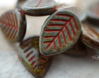 Fallen Leaves, Leaf Beads,Czech Beads, Beads, N2372