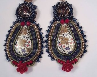 Hanging Lava Stone Earrings FRIDA