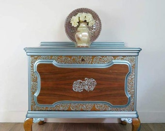 Hand painted vintage cabinet