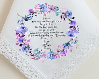 Wedding Handkerchief, Step Mother, Step Mom, You may not have given me the fit of life, but Life has given me you, parents thank you - 85
