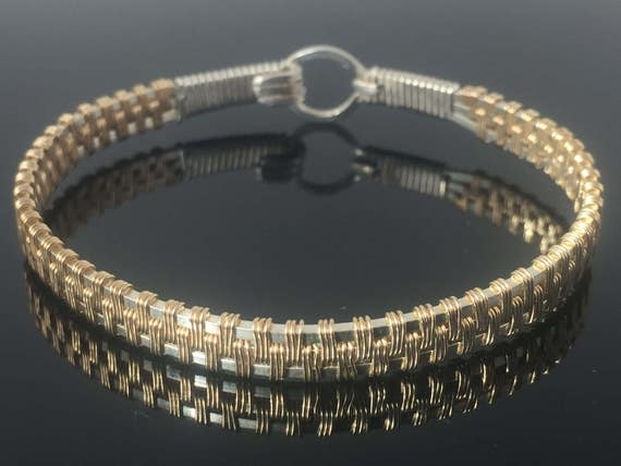 Prana-Design Armreif Armband Draht gewickelt Schmuck