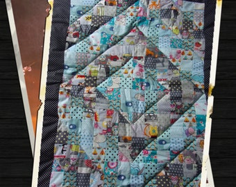 hand-made quilts for baby crib blanket