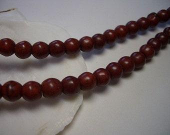 6mm Magnesite beads, round beads, full strand, warm brown, smooth, 6mm beads, round, red brown beads, Magnesite gemstone beads, earth tone