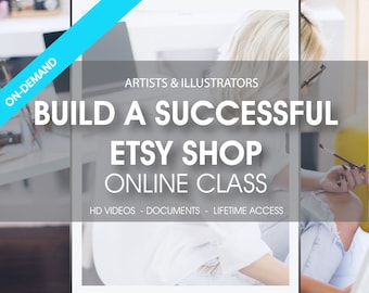50% OFF SALE Build a successful Etsy Shop, Etsy online class, Etsy online course, SEO course, Etsy workshop with #1 Top Seller