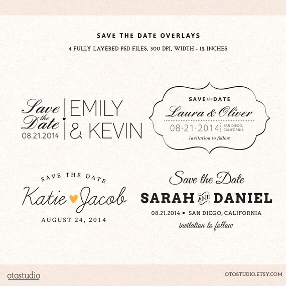 Save the date psd template demirediffusion photoshop save the date overlays wedding photo cards psd maxwellsz