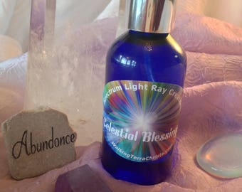 CELESTIAL BLESSINGS Healing Spray Crystal Infused High Vibrational Spray with Essential Oils, Meditation, Mt. Shasta
